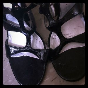BCBG patent leather strappy sandal